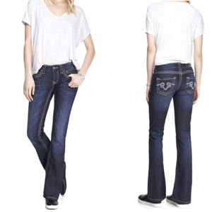 Express ReRock Barely Boot Bootcut 0S Jeans